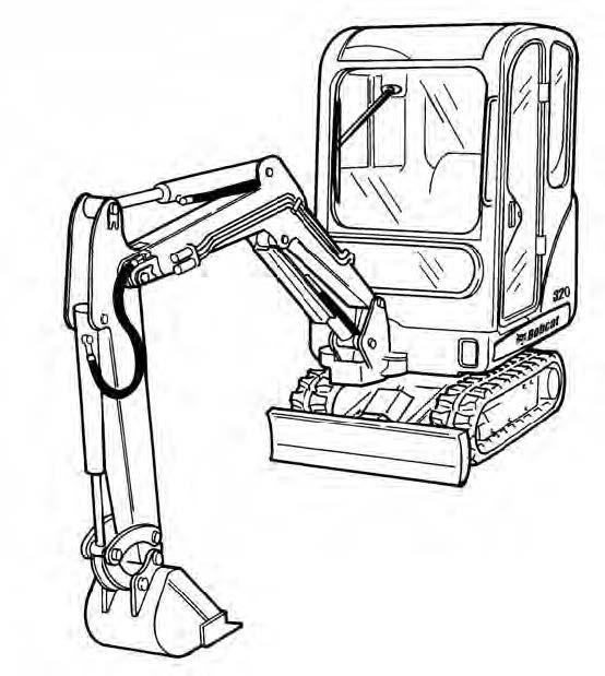 Bobcat X 320/322 Excavator Service Repair Manual Download(S/N 562313001 & Above 517811001 & Above)