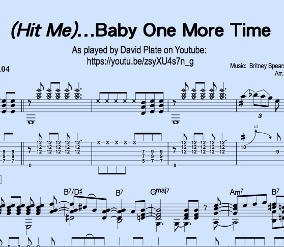 (Hit Me) ...BABY ONE MORE TIME - Guitar Arrangement by David Plate