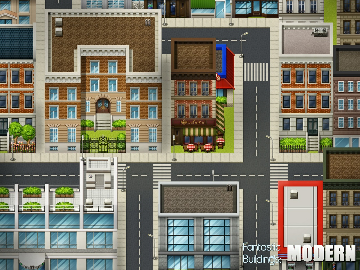 Fantastic buildings modern celianna for Apartment complex map maker