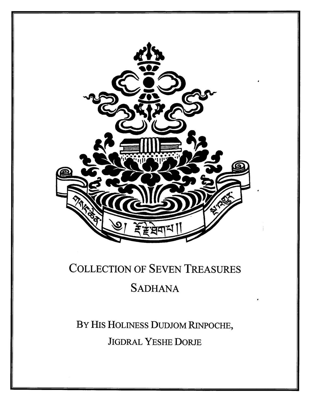 Collection of Seven Treasures Sadhana