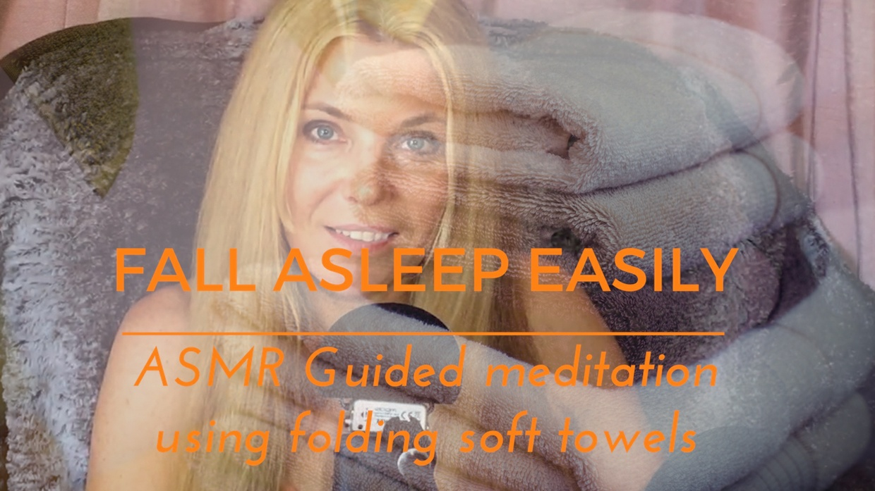 FALL ASLEEP EASILY ASMR Guided meditation using folding soft towels
