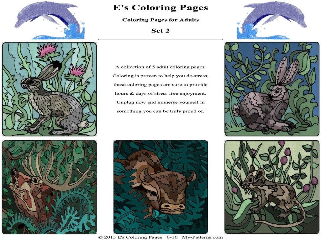 E's Coloring Pages - Set 2