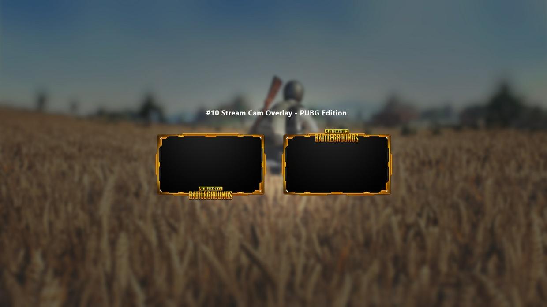 #10 Stream Cam Overlay inkl. PSD - PUBG Edition (3 Styles)