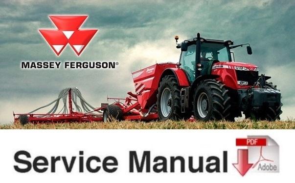 Massey Ferguson Mf50b Mf 50b Series Tractor Service Shop Manual