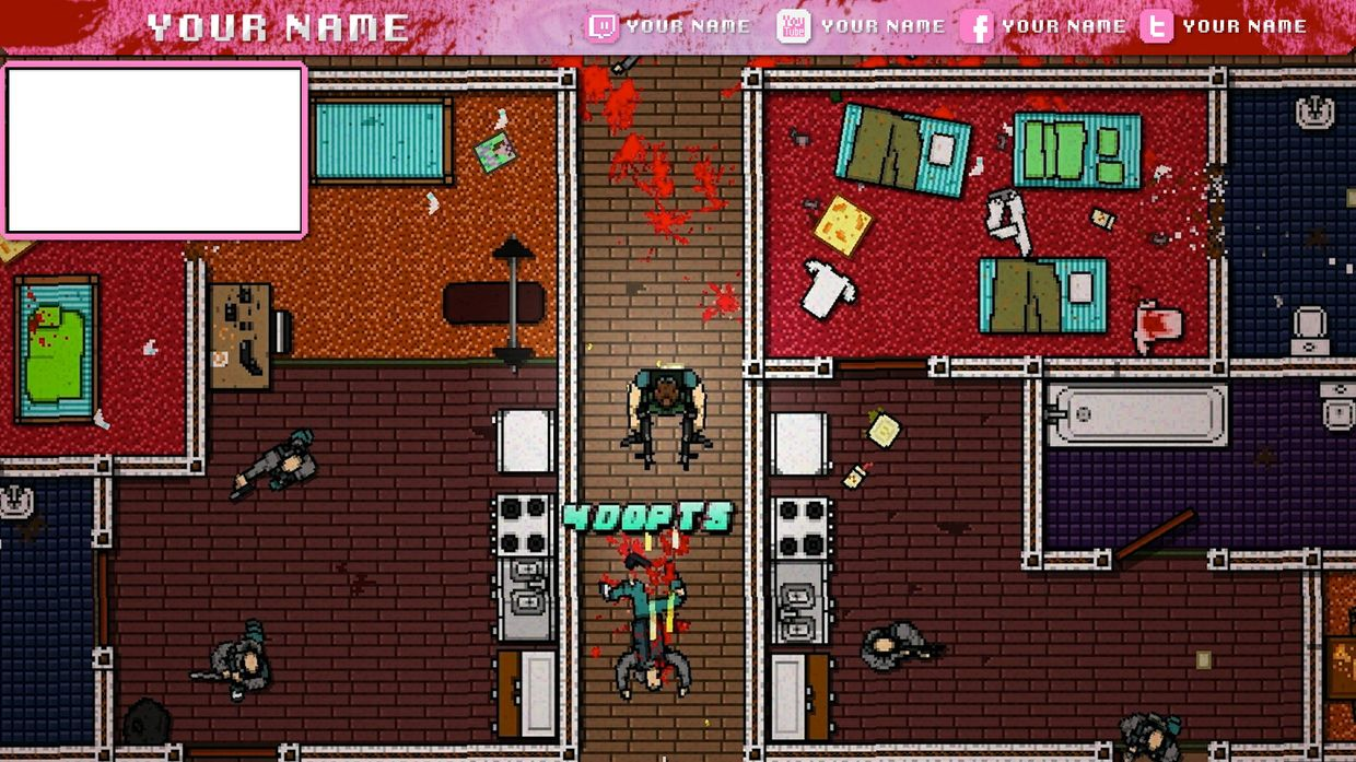 FREE Hotline Miami Inspired Twitch Overlay
