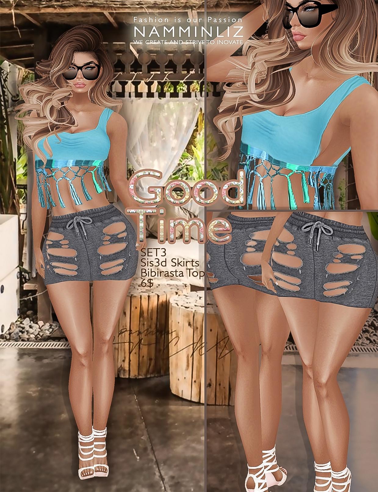 Good time SET3 •Sis3d skirt •Bibirasta top imvu texture PNG