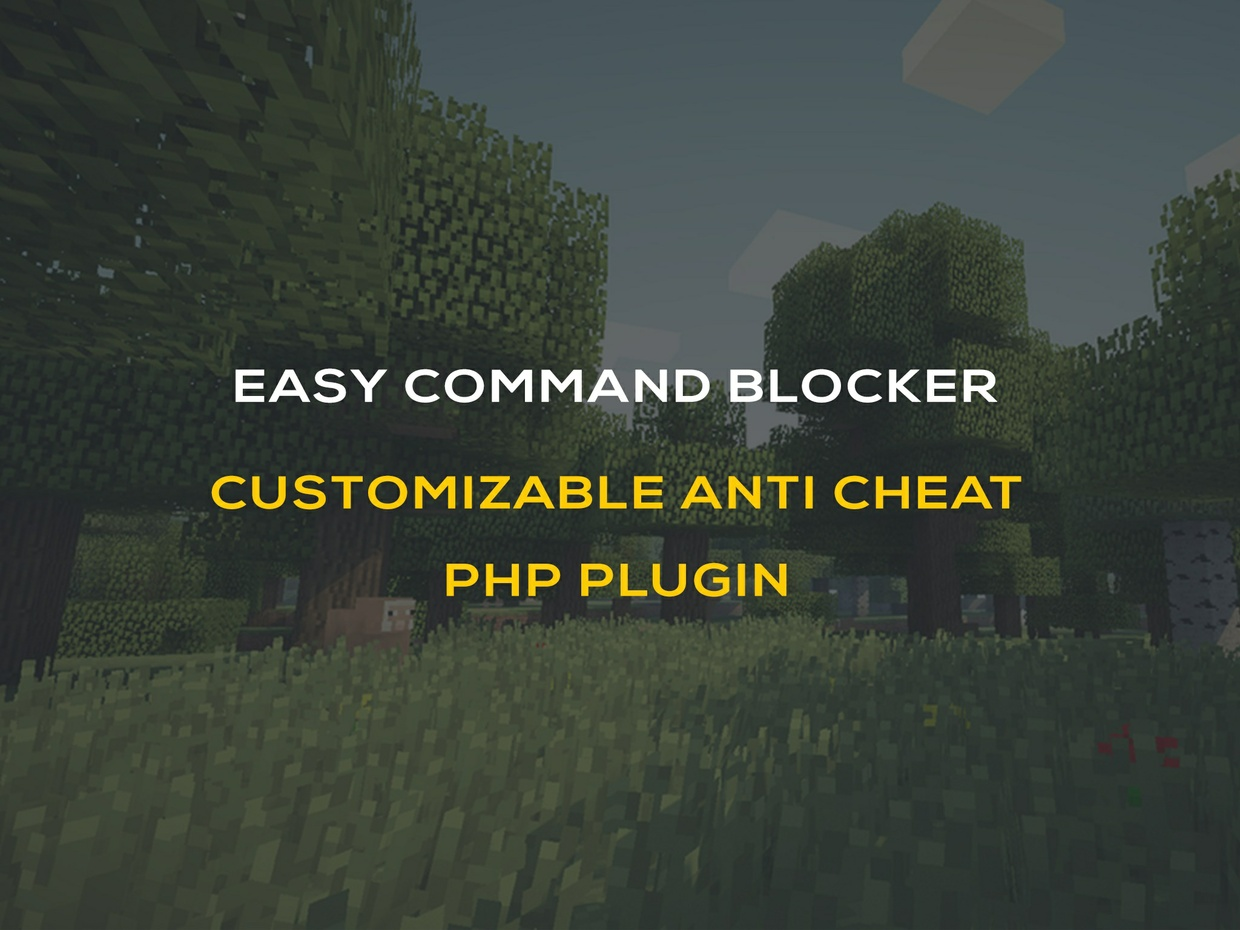 EASY CommandBlocker PHP Plugin - Simple Command Anti Abuse!