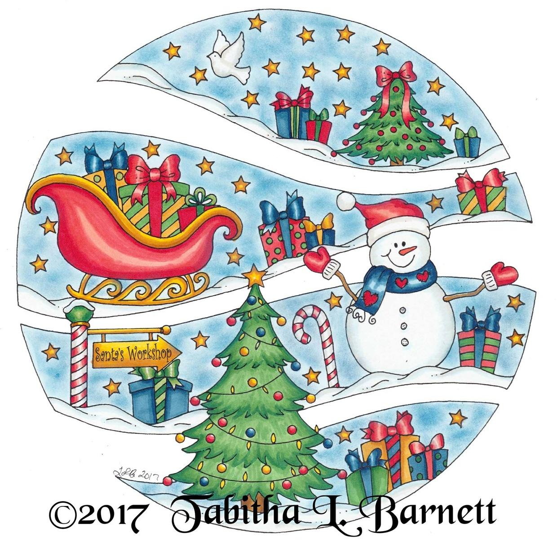 Broken Circles Christmas Coloring Pack (3pd PDF)