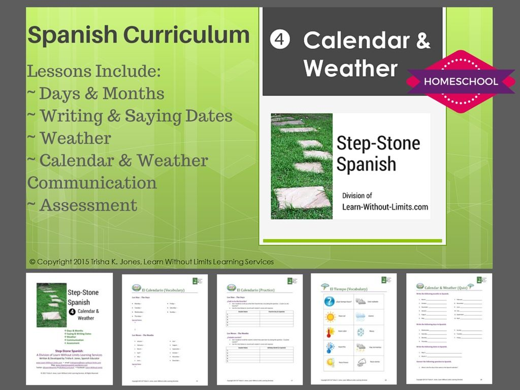 Homeschool Spanish: Calendar & Weather