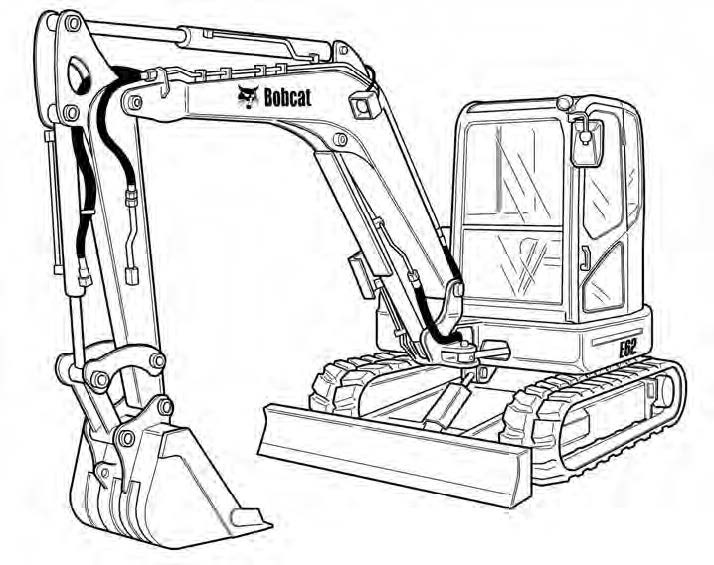 Bobcat E62 Compact Excavator Service Repair Manual Download(S/N B34P11001 & Above)