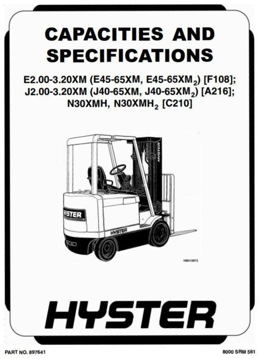 Hyster forklift e45xm2 manual