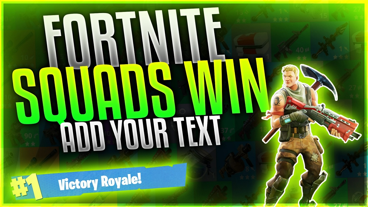Fortnite Thumbnail Template