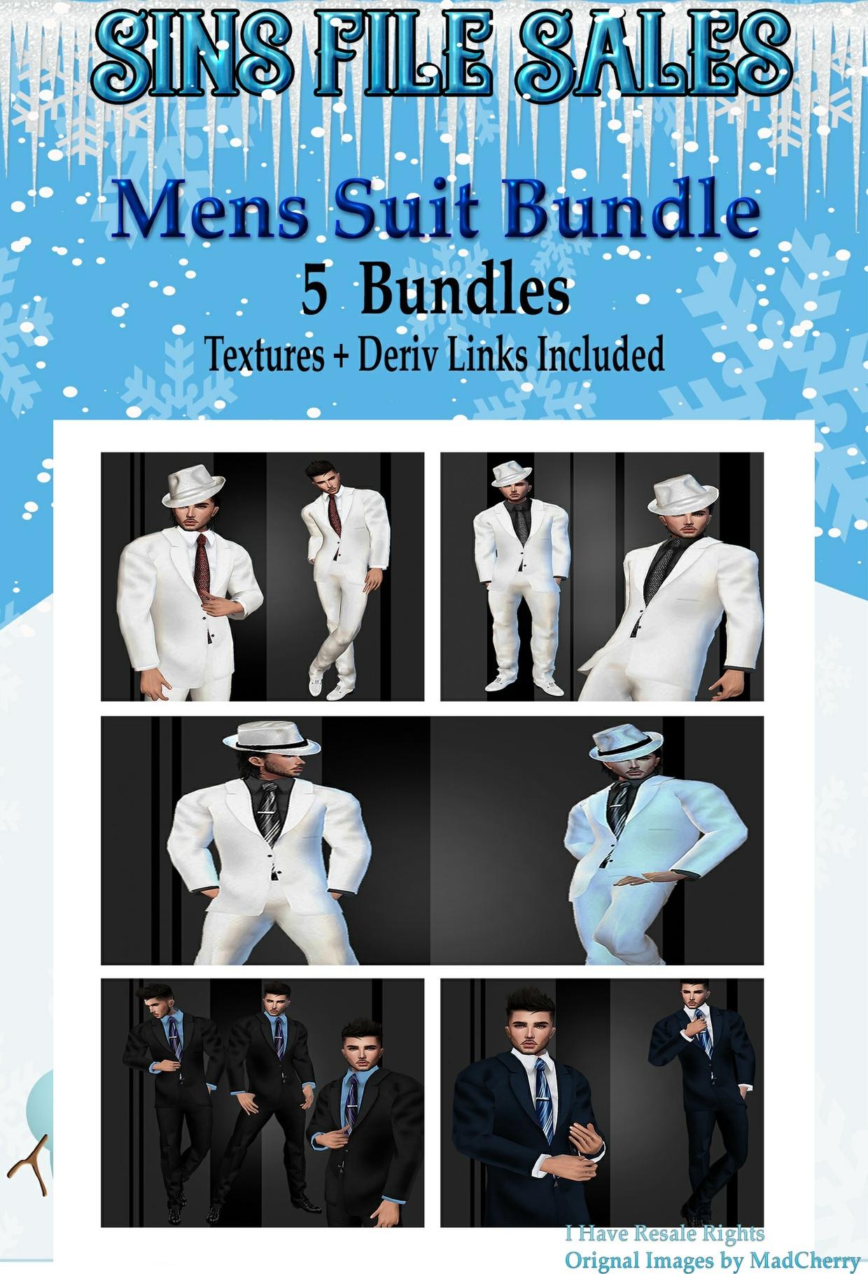 Mens Suit Bundle * 5 Suits Included