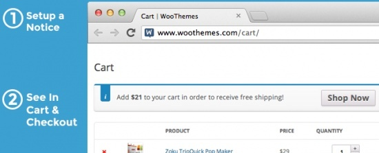 WooCommerce Cart Notices 1.7.0 Extension