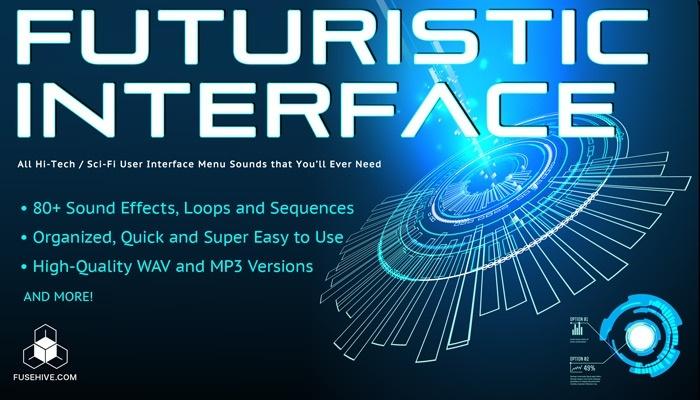FUTURISTIC INTERFACE SFX - sci-fi User Interface Menu Sound Effects