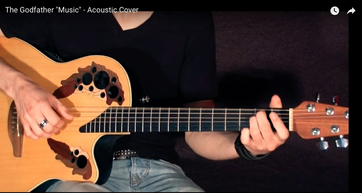 "Backing Track -The Godfather Theme "" Acoustic"""