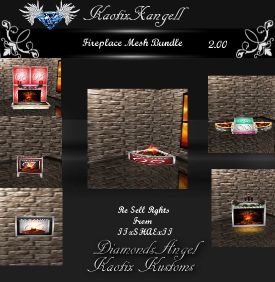 Fireplace Mesh Bundle