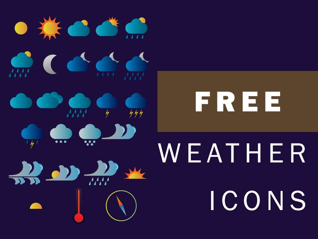 FREE WEATHER ICONS   BY ATT
