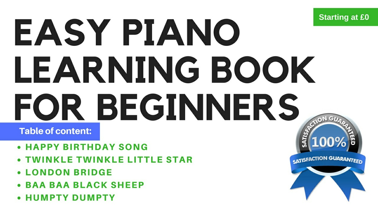 Easy piano learning book for beginners