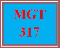 MGT 317 Week 4 Performance Management