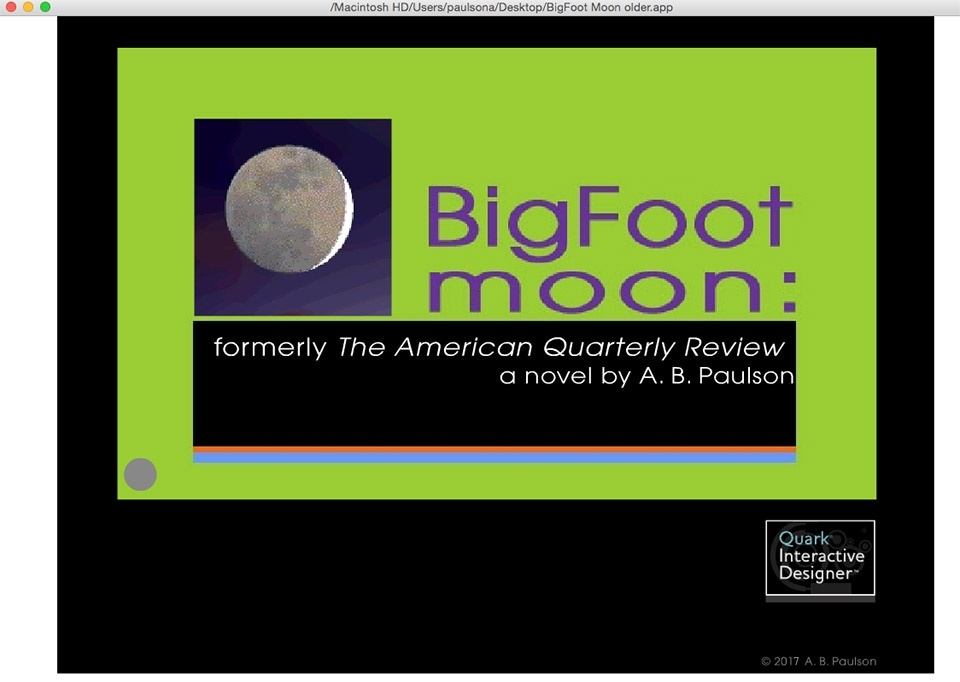BigFoot Moon: formerly The American Quarterly Review Flash-2