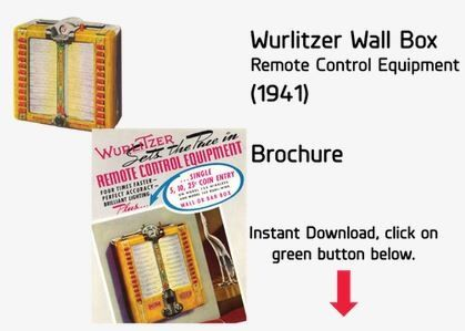 Wurlitzer Wall Box (1941) Brochure