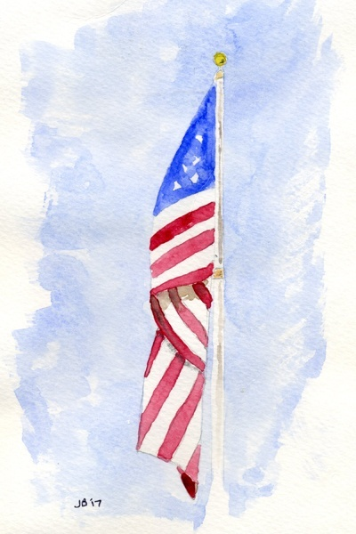 "Old Glory - a ""print it yourself"" A2 sized notecard pdf file"