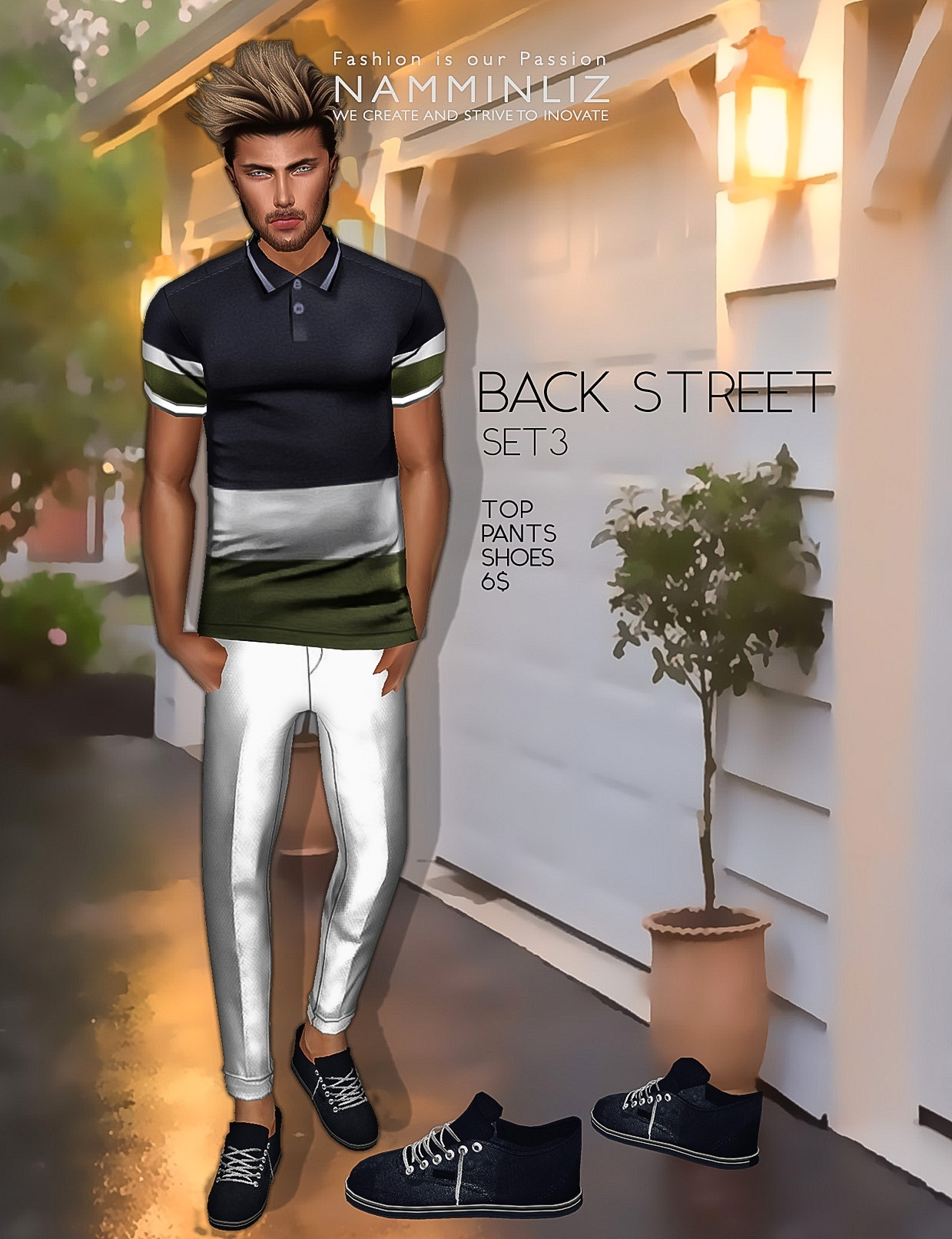 Back Street SET3  imvu Textures JPEG ( Male Top - Pants - Shoes )