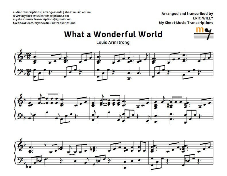 What A Wonderful World Easy Version (Louis Armstrong)