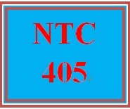 NTC 405 Week 5 Individual: Troubleshooting Document