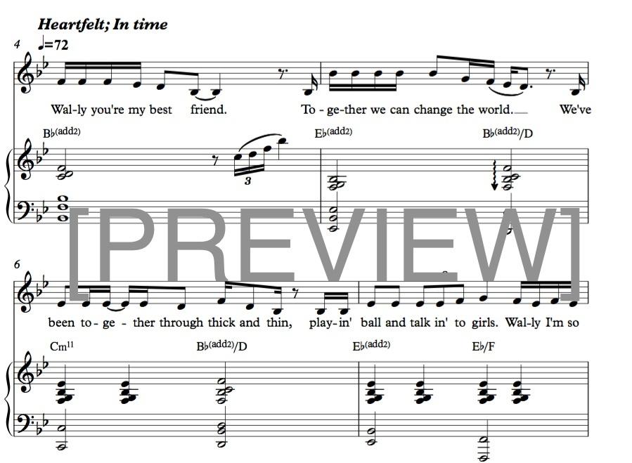 """""""My Best Friend"""" [piano/voice arrangement] - PDF score"""