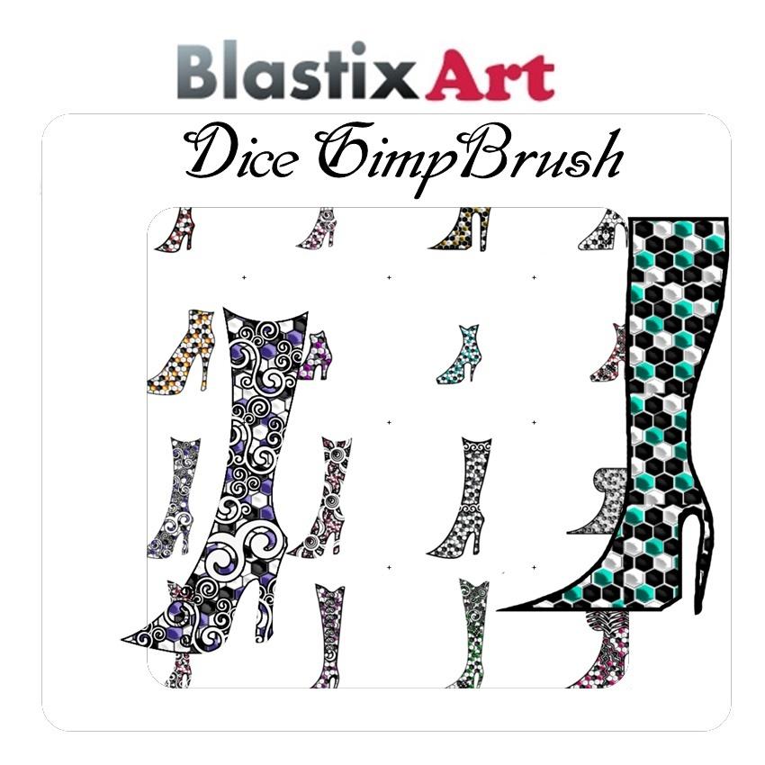 Dice Gimp Shoe  Brush