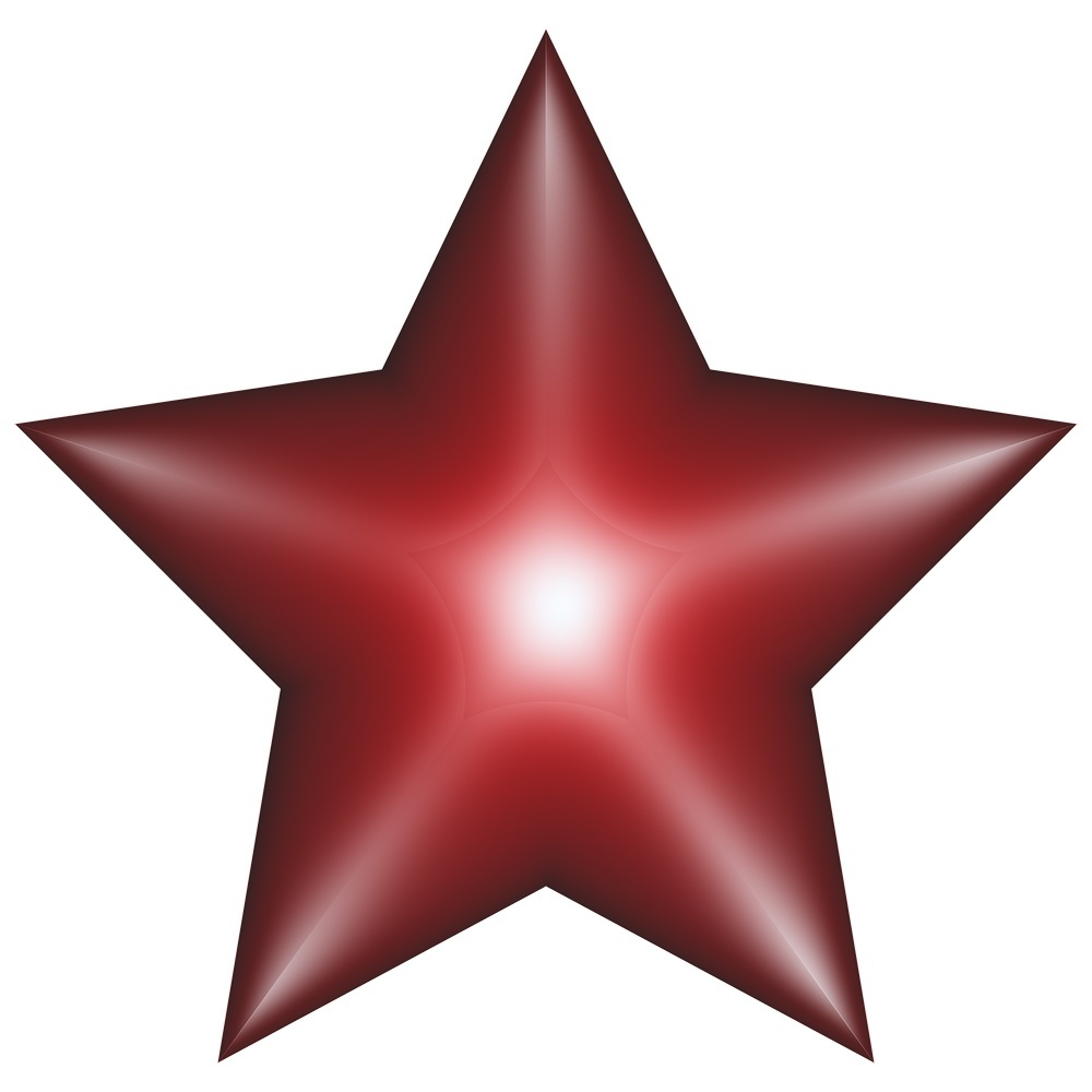 Stars for decorations.Symbols isolated on transparent background.Stars with bevel effect.