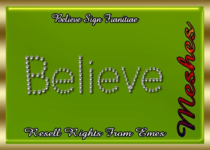 Believe Sign Furniture Catty Only!!!