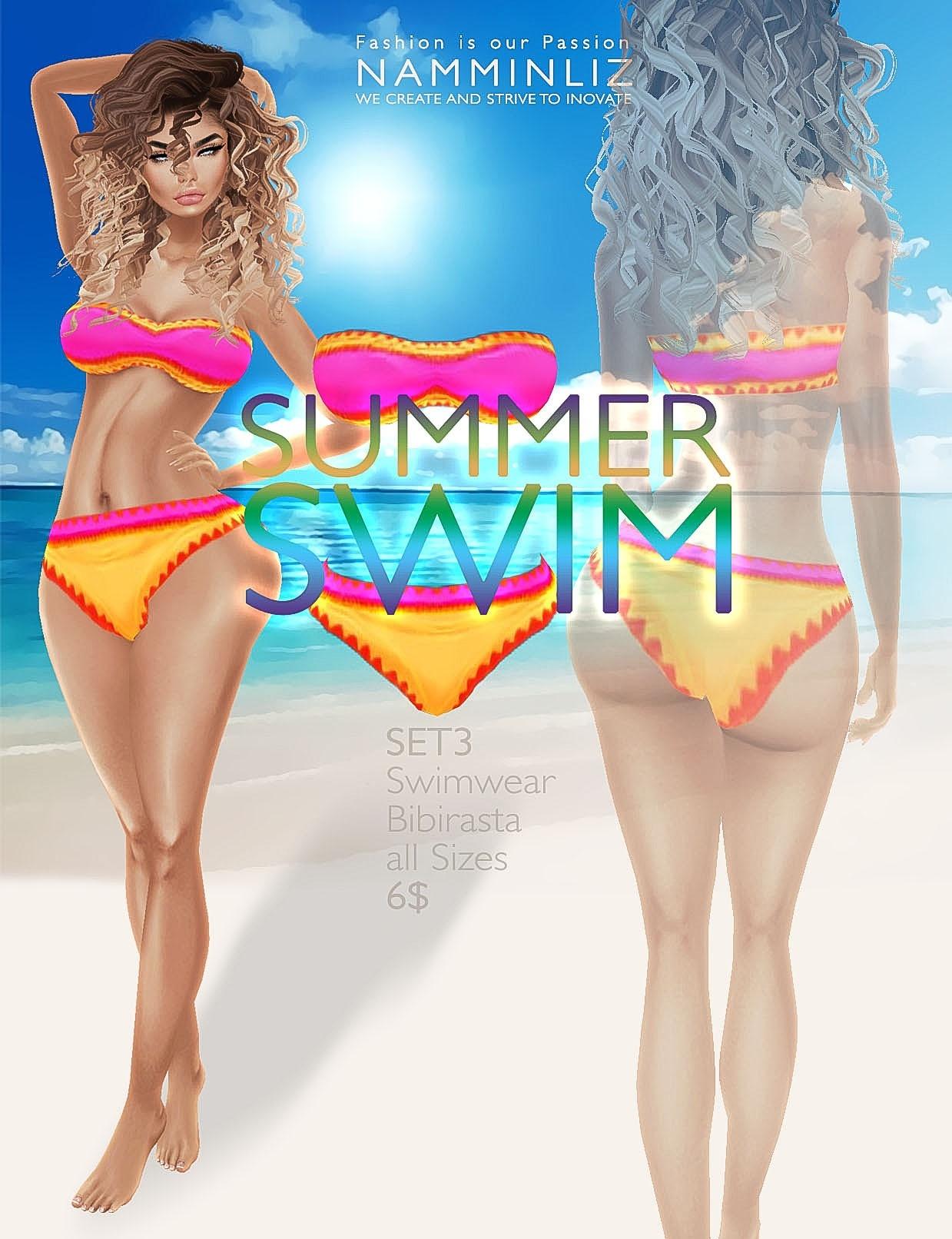 Summer swim Full SET imvu Bibirasta all sizes swimwear texture file sale