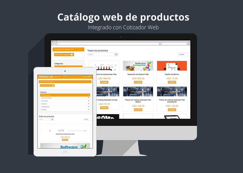 Catálogo web de productos