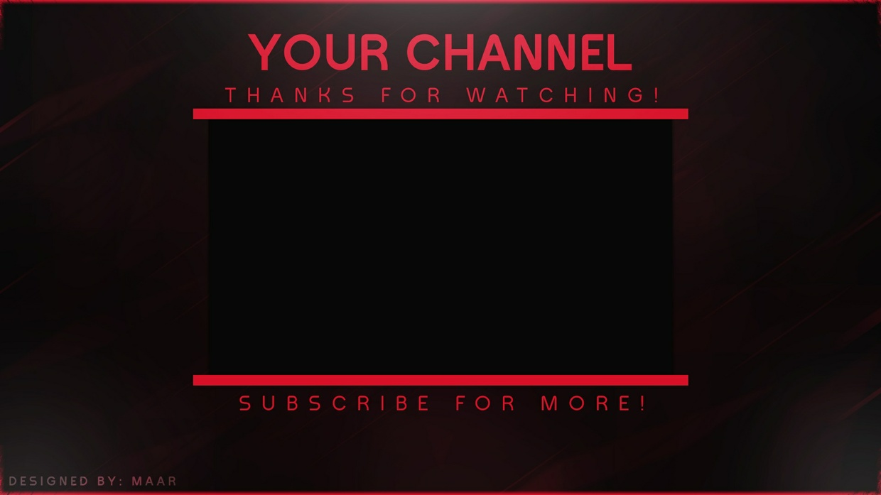 Video Outro Template