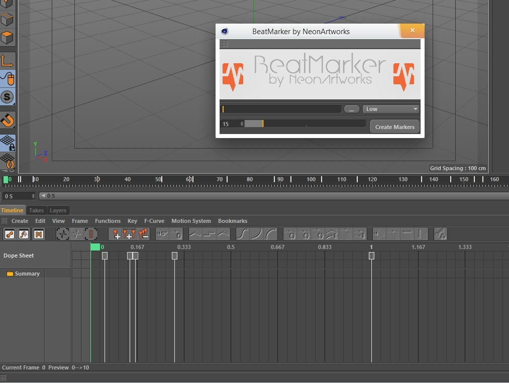 BeatMarker - Cinema 4D Plugin