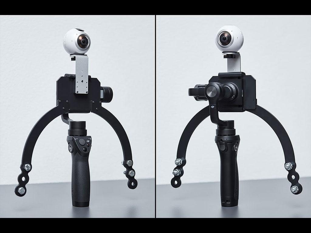 Kraken36 V1.1 adapter for Samsung Gear 360 & DJI Osmo Mobile
