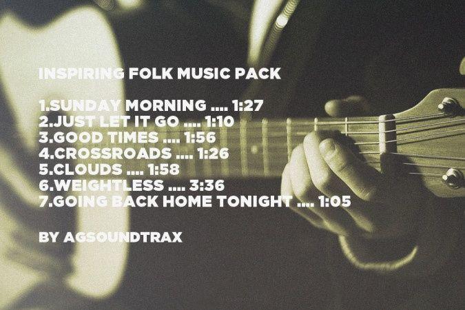 Inspiring Acoustic/Folk Royalty Free Music Pack