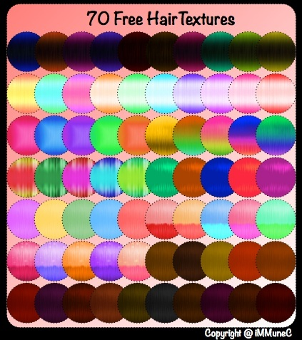 70 FREE Hair Textures by iMMuneC @ IMVU