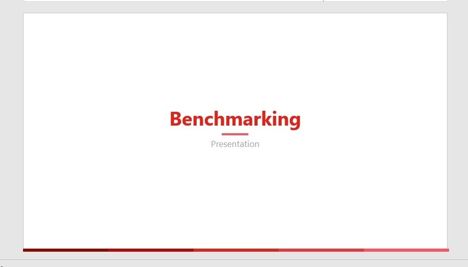 RED Light Benchmarking PPT