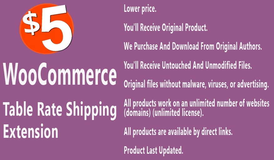 WooCommerce Table Rate Shipping Extension