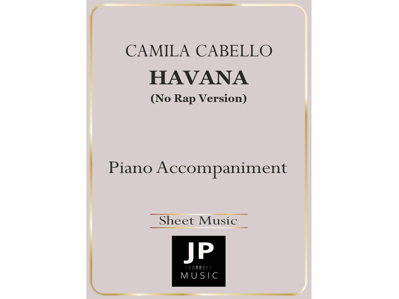 Havana (No Rap Version) - Piano Accompaniment