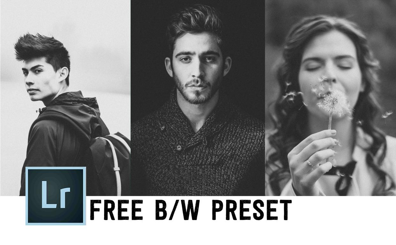 Free Black & White Preset!