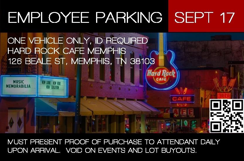 Hard Rock Memphis Employee Permit - September 2017