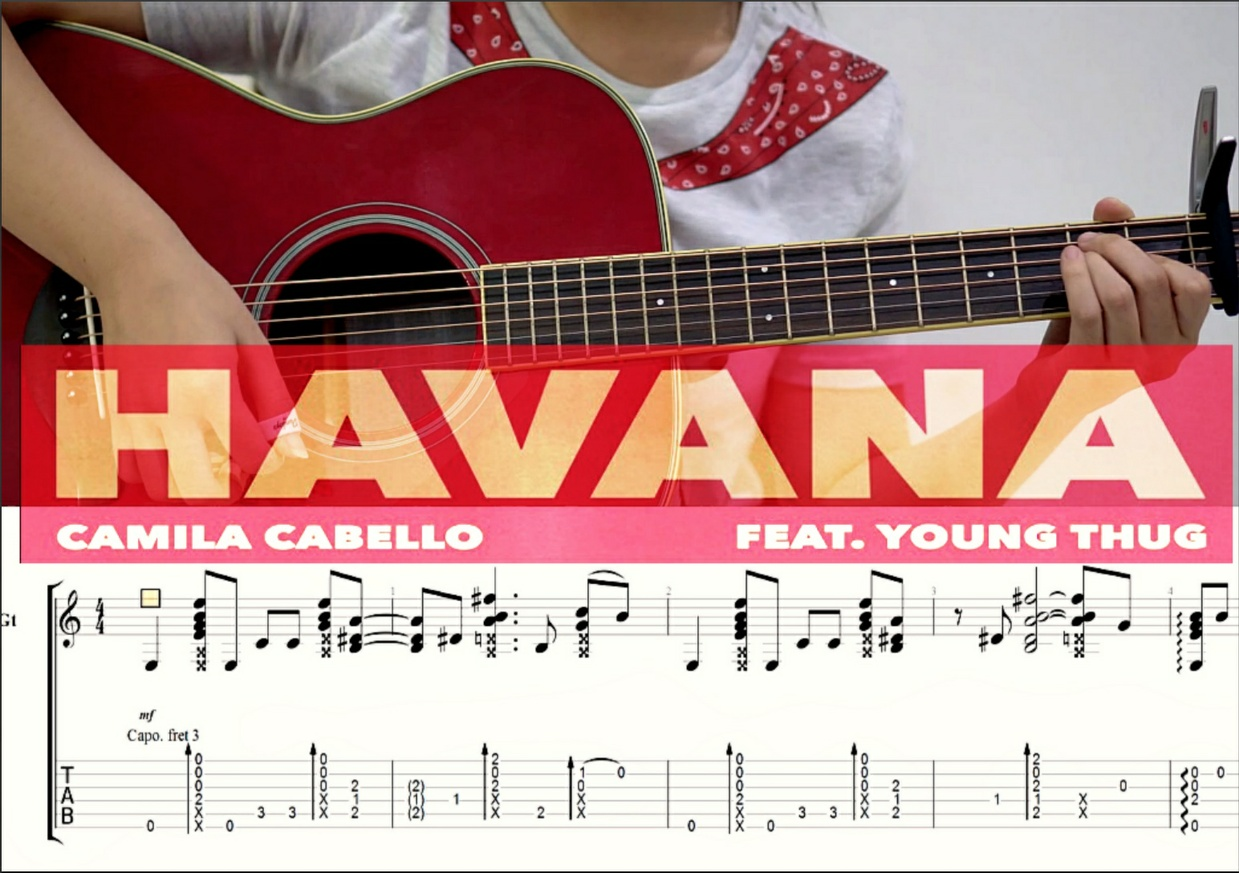 Havana - Camila Cabello (Fingerstyle Guitar Tabs by Josephine Alexandra) [GP6]