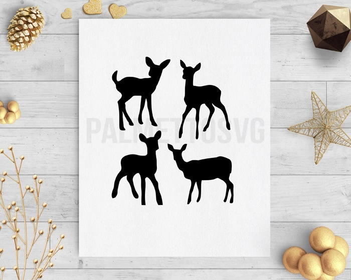 baby deer clip art svg dxf cut file silhouette cameo cricut download
