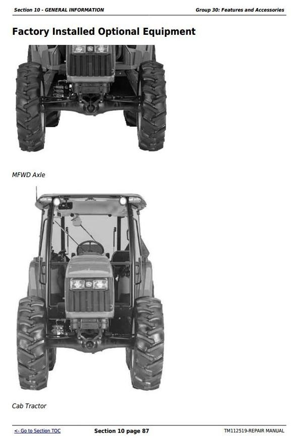 John Deere 5083E, 5093E  5101E and Limited models Tractors Repair Manual (TM112519)