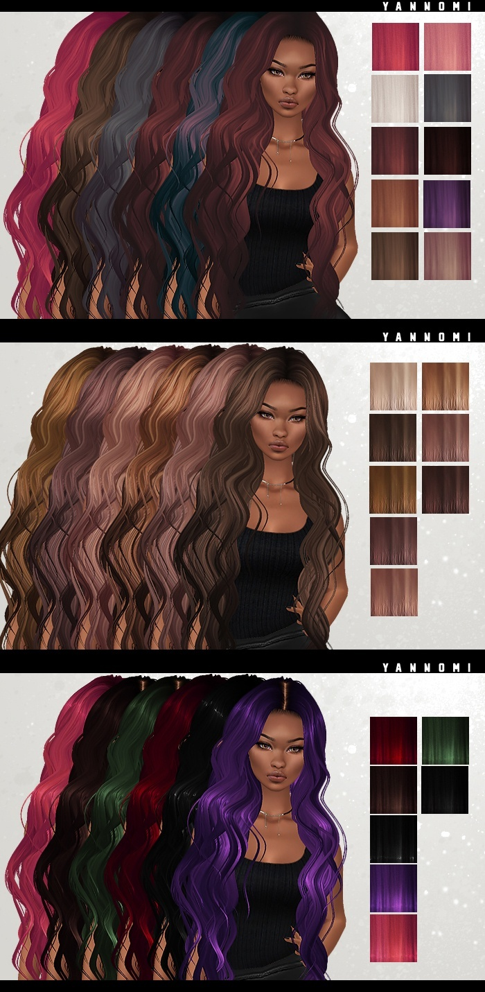 IMVU HAIR TEXUTRE PACK - all of them!!
